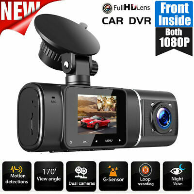 AU88.88 • Buy TOGUARD Uber Car DVR Dual Len Dash Cam 2x1080P NightVision Video Recorder Camera