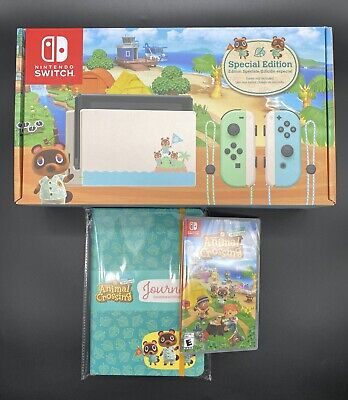 $ CDN980.02 • Buy Nintendo Switch Animal Crossing New Horizons Console, Game, & Journal - IN HAND