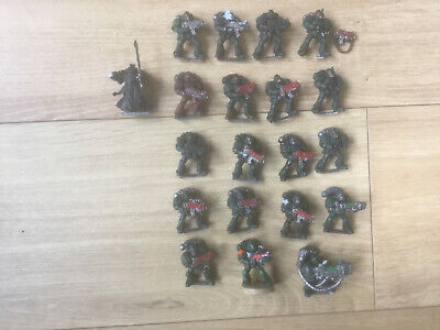 Warhammer 40k Dark Angels Squad X 20 Figures See Pictures For Condition Painted • 12.95£