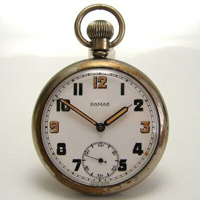 DAMAS GSTP GS/TP 168754 Pocket Watch WW2 WWII Military Exc Dial And Hands FWO • 35£