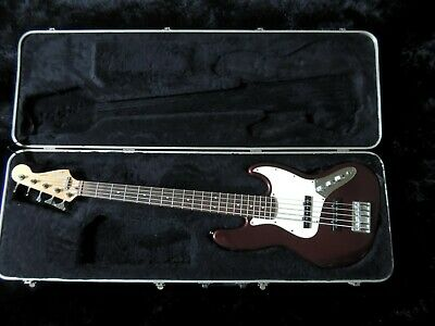 $ CDN872.61 • Buy 1998 Fender 5-String Jazz Bass Standard Bass Guitar MIM Midnight Wine W/HSC