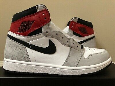 $349.99 • Buy Air Jordan Retro 1 High OG Light Smoke Grey Red Black 555088-126 100% Authentic