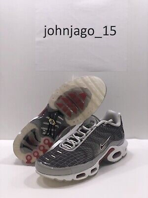 $89.99 • Buy Nike Air Max Plus OG Tuned Tn Grid Men's Size 8.5 US Grey White Red BV1983-001
