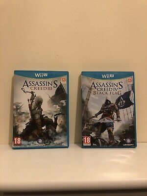 Assassins Creed III And Black Flag Wii U Double Pack • 12.99£