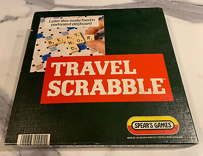 Vintage Travel Scrabble Spears Game With Clip In Tiles - 100% Complete • 12.99£