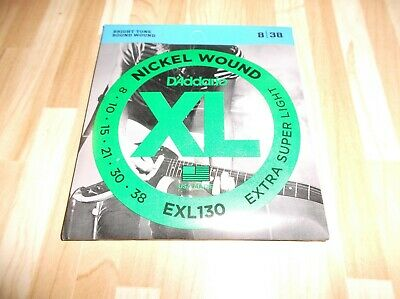 $ CDN8.75 • Buy (01) Set D Addario Extra Super Light Electric Guitar Strings 8-38  EXL130