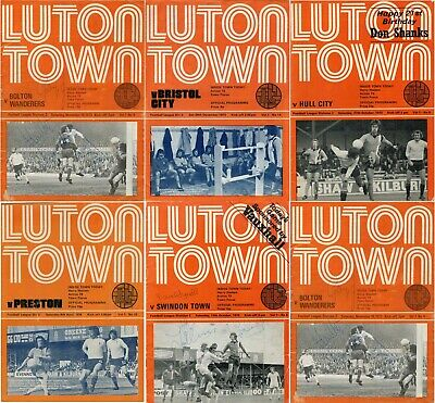 1973-74 LUTON TOWN HOME FOOTBALL PROGRAMMES - Your Choice - FREE Postage • 2.50£
