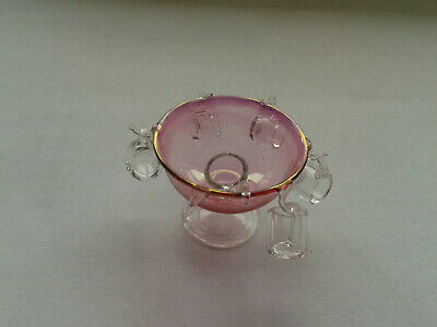 Dolls House Cranberry Glass Lot5 Punchbowl 5 Cups And Ladle Good Condition • 4.99£