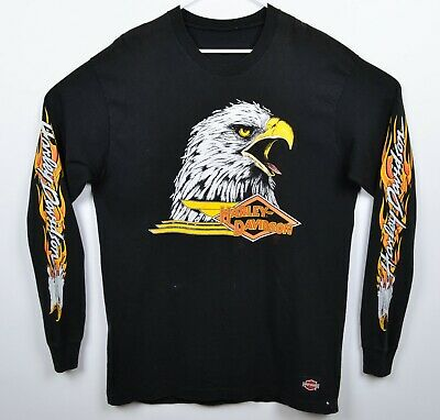 $ CDN188.12 • Buy Vtg 1986 Harley-Davidson Men's Sz XL? Eagle Flames Sleeve Long Sleeve T-Shirt