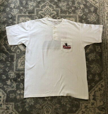 $ CDN47.35 • Buy Vintage Winston Winner Club Pocket T Shirt XL 1993 Tobacco American Origin