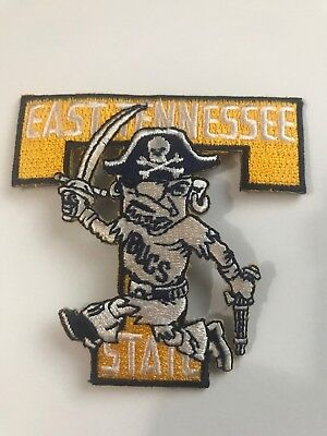 $6.99 • Buy ETSU East Tennessee State University Buccaneers Vintage Iron On Patch 3  X 2.75