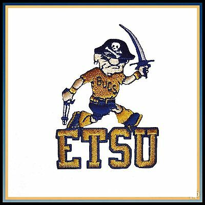 $6 • Buy ETSU East Tennessee State University Buccaneers Vintage Iron On Patch 3  X 2.1