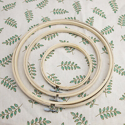 Wooden Cross Stitch Machine Embroidery Hoop Ring Bamboo Sewing 5'' 8'' 10' • 12.55£