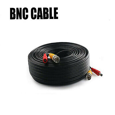 BNC DC Power Lead CCTV Security Camera DVR Video Extension Cable Lead 5M To 40M • 1.49£