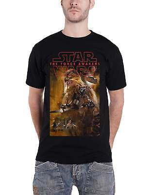 Star Wars 7 Force Awakens Chewbacca New Official Mens Black T Shirt • 9.99£