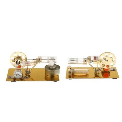 1pc Golden Sterling Engine Model Science Toy Props Collection Gifts For Kids • 26.86£
