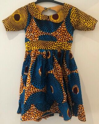 Pretty African Print Dress For Girls Age 3-4 Years • 12£