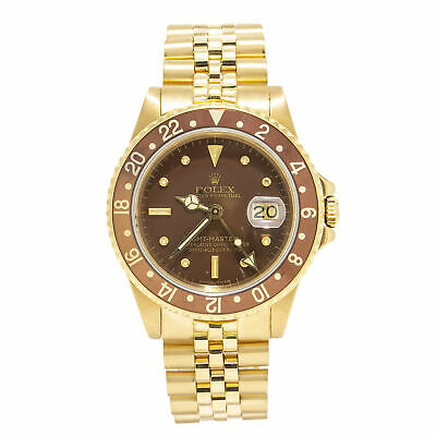 $ CDN42711.71 • Buy Rolex GMT-Master Rare Vintage Nipple Enamel Dial 18k Yellow Gold Jubilee 40mm