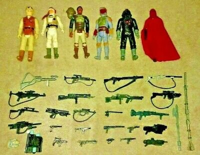 $ CDN150 • Buy Star Wars Original Vintage 80's Lot 6 Figures Hoth Jabba Palace Many Weapons