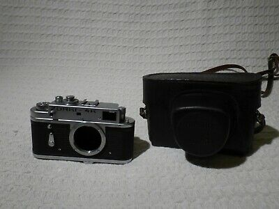 Vintage Russian Zorki 4K 35mm Film Rangefinder Camera Body & Case – Faulty • 9.99£