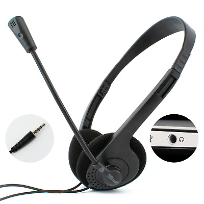 LAPTOP HEADSET With STEREO MICROPHONE | 3.5mm TRRS Connector | ZOOM SKYPE CHAT • 9.99£