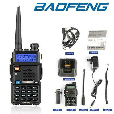 UK STOCK Baofeng UV-5R VHF Dual Band 2Way Ham Radio Walkie Talkie UHF 400~520MHz • 18.98£