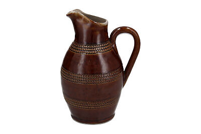 £19.95 • Buy A Vintage French Pottery Jug Rustic Style Brown Treacle Glaze 18.5 Cm