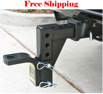 $44.99 • Buy Dual Ball Mount Heavy Duty Drop Adjustable Hitch Receiver Tow Truck RV Trailer