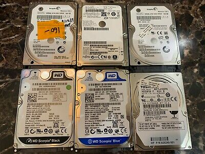 $ CDN59.45 • Buy Lot Of 6 Assorted Brands 2.5  160GB SATA Laptop HDD Hard Drive - Tested & Wiped