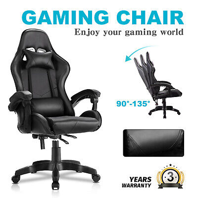 AU125.90 • Buy Advwin Gaming Chair Racing Office Chair Ergonomic PU Leather  Recliner Chair