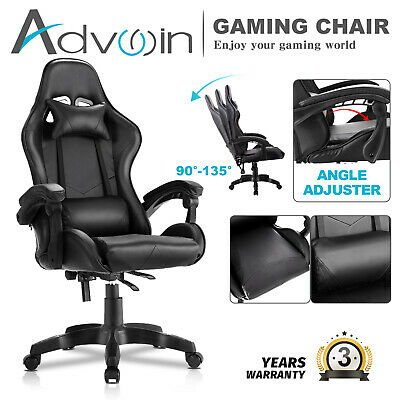AU129.90 • Buy Executive Office Computer Gaming Chair Racer Recliner Chair Racing Seating Black