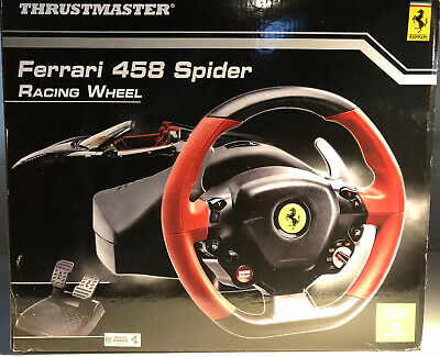 $79 • Buy Thrustmaster Ferrari 458 Spider Racing Steering Wheel And Pedals Xbox One