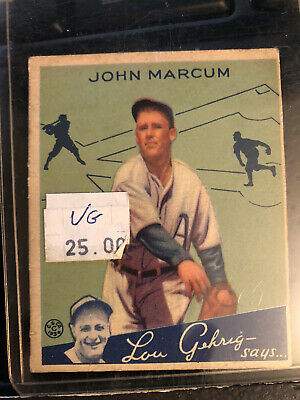 $9 • Buy 1934 Goudey #69 John Marcum Baseball Card VG