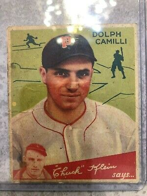 $9.38 • Buy 1934 Goudey (hi #) #91 Dolph Camilli - Phillies / Scare High Number Vg
