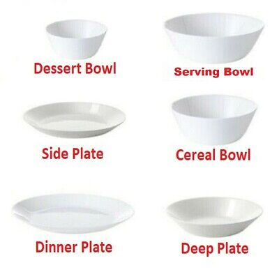 £9 • Buy Ikea OFTAST White Dinner Plates, Side/Deep Plates And Bowls, Make Your Own Set