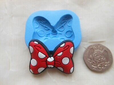 £4.25 • Buy Mini Craft Mould: Spotted Bow 24x31mm (Mickey Minnie Mouse Bowknot) Cupcake Clay