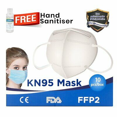 AU19.95 • Buy 10 PCS KN95/N95 P2 Face Mask 5 Layers Respirator Mask Protective Filter