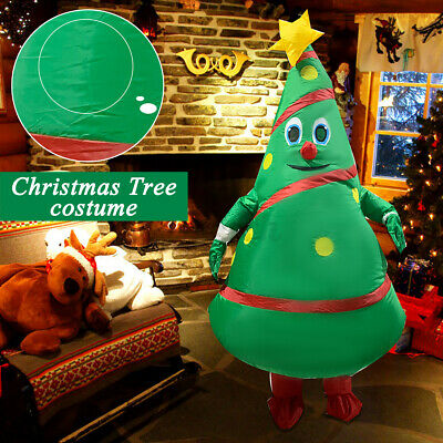 Inflatable Christmas Tree Costume Adults Cosplay Blowup Party Outfit Suit  # S • 24.47£
