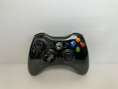AU39.95 • Buy Genuine Microsoft Xbox 360 Controller - Black - No Battery Pack - Tested & Works