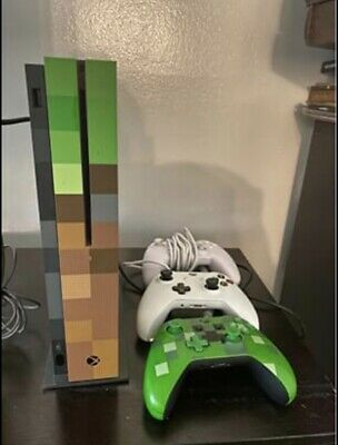 $300 • Buy Microsoft Xbox One S Minecraft Limited Edition Bundle 1TB Green & Brown Console