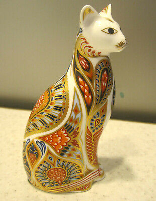 Royal Crown Derby Siamese Cat Paperweight Bone China Imari Style Cat Figure • 24.99£