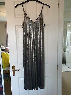 Topshop Metallic Silver Jumpsuit Size 10 New With Tags • 2.70£