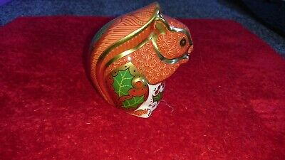 Royal Crown Derby Christmas Squirrel. First Quality Paperweight  • 20£