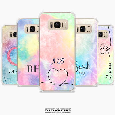 $ CDN10.40 • Buy Personalised Name Initials Rainbow Phone Case Cover For Samsung S20 S10 S8 S9