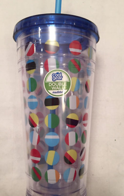 $11.89 • Buy NEW! Cool Gear Beach Balls Double Wall Insulated 24 Ounce Tumbler W/ Straw