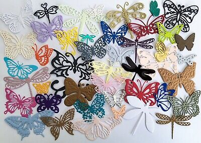 £1.95 • Buy Bargain Pack Of 40 Mixed Butterfly & Dragonfly Die-cuts (Multi Coloured)