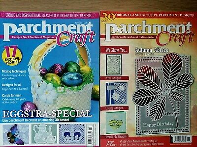 Parchment Craft Magazines, September 2015, April 2016 • 1.55£