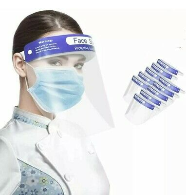 £2.29 • Buy Face Shield Full Face Visor Protection Mask PPE Shield Clear Plastic Transparent