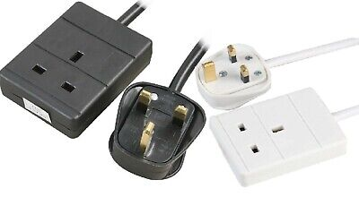 AU16.23 • Buy 1 Way Gang Way 0.5 - 3 Metre Mains Extension Lead Cable Plug Socket BS Approve