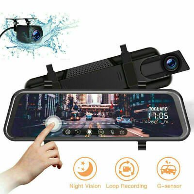 AU89.24 • Buy TOGUARD 10  Front And Rearview Mirror Dash Cam Car Recorder Touch Screen Camera